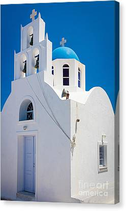 Greek Chapel Canvas Print by Inge Johnsson