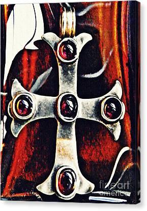Byzantine Canvas Print - Greek Cross by Sarah Loft