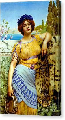 Greek Dancing Girl 1902 Canvas Print