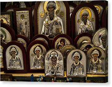 Greek Orthodox Church Icons Canvas Print by David Smith
