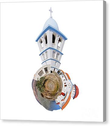 Greek Orthodox Church Canvas Print by Nichola Denny