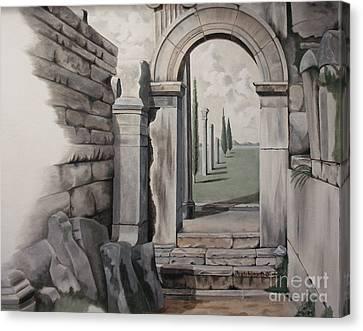 Greek Portal Canvas Print by Joyce Hutchinson