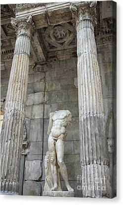 Canvas Print featuring the photograph Greek Statue by Patricia Hofmeester