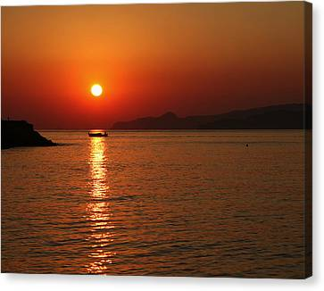 Greek Sunrise Canvas Print