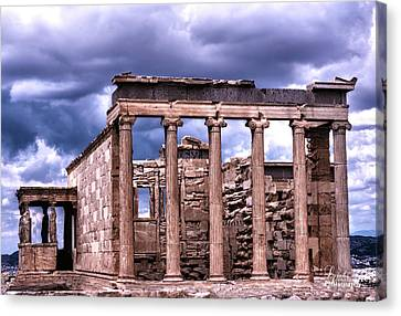 Canvas Print featuring the photograph Greek Temple by Linda Constant