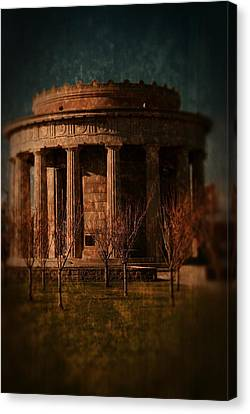 Greek Temple Monument War Memorial Canvas Print by Angie Tirado