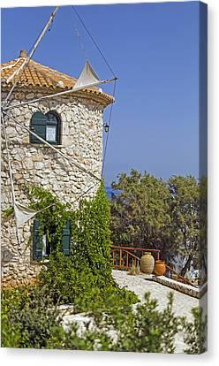Greek Windmill Canvas Print