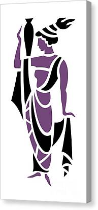 Greek Woman In Purple Canvas Print