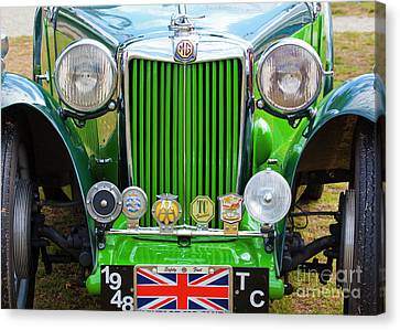 Canvas Print featuring the photograph Green 1948 Mg Tc by Chris Dutton