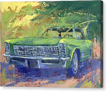 Green 1965 Buick Riviera Canvas Print