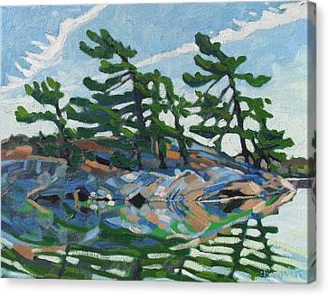 Green A Island Canvas Print by Phil Chadwick