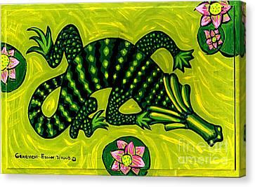 Green Alligator Canvas Print