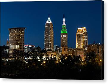 Green And Grey In Cleveland Ohio Canvas Print by Dale Kincaid