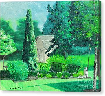 Green And Growing Canvas Print by Joseph Palotas