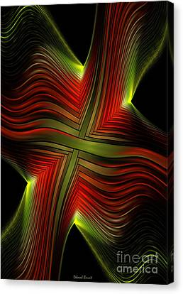 Green And Red Lines Canvas Print