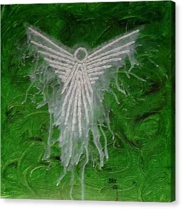 Green Angel Canvas Print by Bo Klinge