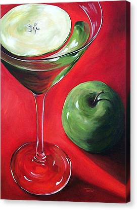 Green Apple Martini Canvas Print by Torrie Smiley
