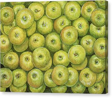 Green Apple Spread Canvas Print by Ditz