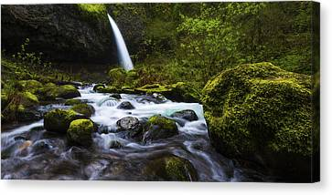 Riverscape Canvas Print - Green Avenue by Chad Dutson