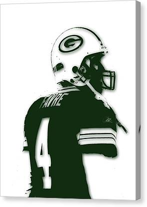 Green Bay Packers Bret Favre 2 Canvas Print by Joe Hamilton