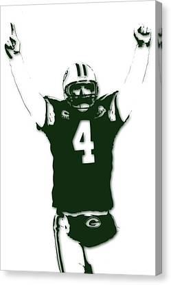 Green Bay Packers Bret Favre 3 Canvas Print by Joe Hamilton