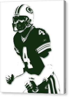 Green Bay Packers Bret Favre Canvas Print by Joe Hamilton