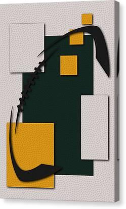 Green Bay Packers Football Art Canvas Print by Joe Hamilton