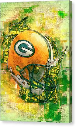 Green Bay Packers Canvas Print by Jack Zulli