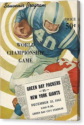 Green Bay Packers Vintage Program 5 Canvas Print by Joe Hamilton