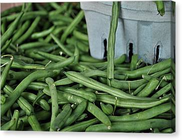 Green Beans Canvas Print by William Jones