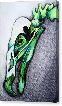 Green Bird Canvas Print by Kimberly Piro
