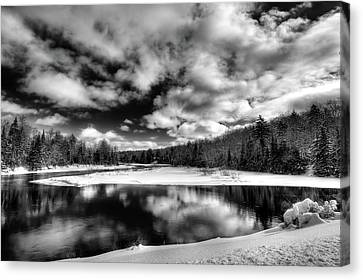 Canvas Print featuring the photograph Green Bridge Solitude by David Patterson