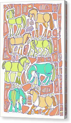 Green Broke Canvas Print by Linda Kay Thomas