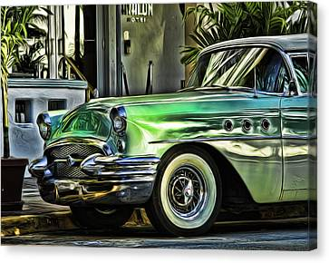 Green Buick Canvas Print