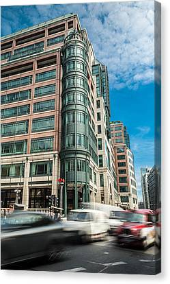 Green Building On Liverpool Metro Station London Canvas Print