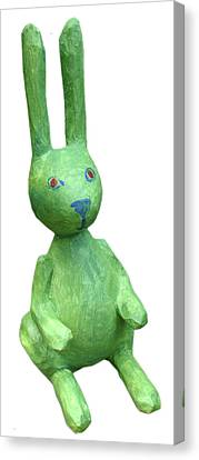 Green Bunny Canvas Print by Maria Rosa