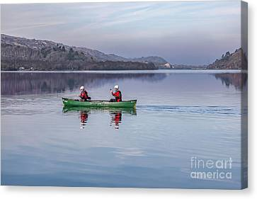 Green Canoe Canvas Print by Adrian Evans