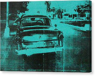 Green Car Canvas Print by David Studwell