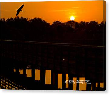 Canvas Print featuring the photograph Green Cay Sunrise by Don Durfee