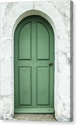 Green Church Door Iv Canvas Print
