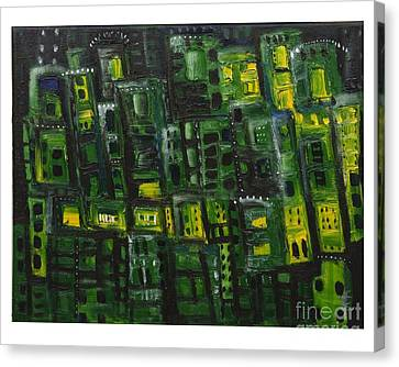Green Cities Canvas Print by Maria Curcic