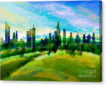 Green City Canvas Print by Bedros Awak