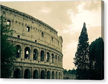 Green Colosseum Canvas Print