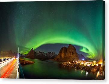 Green Curtains Canvas Print by Alex Conu