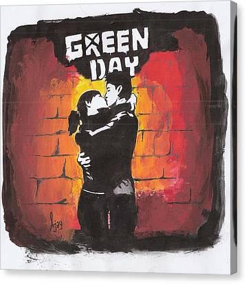 Green Day Canvas Print by Ajay Atroliya