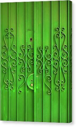Green Door Canvas Print by Carlos Caetano