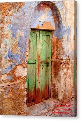 Green Door On Adendorff Street. H A Canvas Print