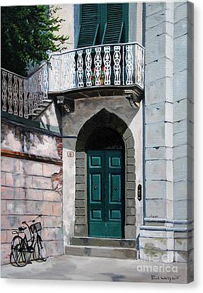 Green Door Canvas Print by Paul Walsh