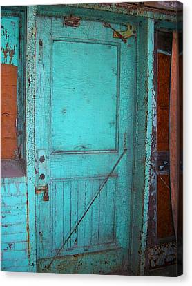 Ford Plant Canvas Print - Green Doorway To The Past by Edmund Akers