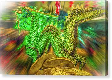 Green Dragon Canvas Print by Mark Dunton